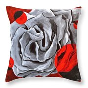 The Color Red Two Throw Pillow