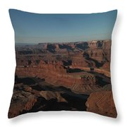 The Colorado River At Dead Horse State Park Throw Pillow