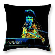 The Colorful Sound Of Bad Company 1977 Throw Pillow