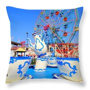 The Colors Of Coney Throw Pillow