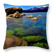 The Colors Of Lake Tahoe Throw Pillow