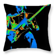 The Colors Of Mick's Music Are Vivid Throw Pillow