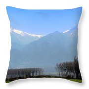 The Colors Of Mount Olympus Throw Pillow