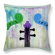 The Colors Of Music Throw Pillow