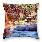 The Colors Of Oak Creek Throw Pillow