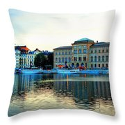 The Colors Of Stockholm Throw Pillow by Jenny Hudson