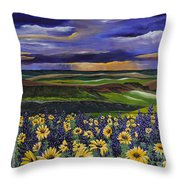 The Colors Of The Plateau Throw Pillow