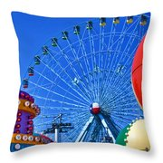 The Colors Of The State Fair Of Texas Throw Pillow