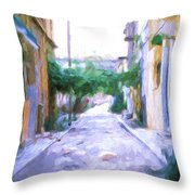 The Colors Of The Streets Throw Pillow