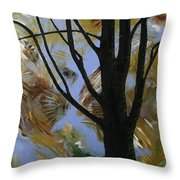 The Colors That Are Not Leaves Throw Pillow