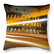The Colosseum Lights Throw Pillow