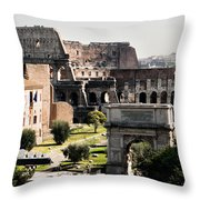 The Colosseum Through The Forum Throw Pillow