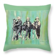 The Colt Whisperers Throw Pillow