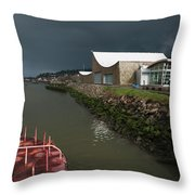 The Columbia River Maritime Museum Sits Throw Pillow