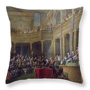 The Committee Of Lyon, 26th January 1802, 1808 Oil On Canvas Throw Pillow