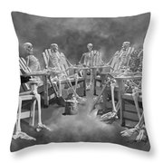 The Committee Reaches Enlightenment II Throw Pillow