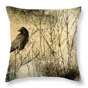 The Common Crow Throw Pillow