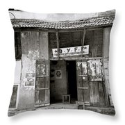 The Communist Reading Room In Cochin Throw Pillow