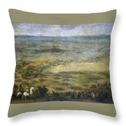The Conquest Of Lleida Throw Pillow