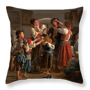 The Conscript's Farewell  Throw Pillow