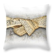The Constitution Throw Pillow