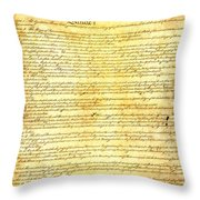The Constitution Of The United States Of America Throw Pillow