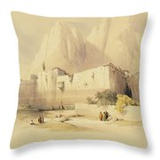 The Convent Of St. Catherine Throw Pillow
