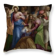 The Conversion Of Mary Magdalene Throw Pillow