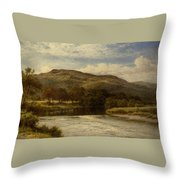 The Conway Near Bettws Y Coed Throw Pillow