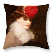 The Coquette, 1863 Throw Pillow