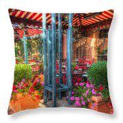 The Corner Cafe Throw Pillow