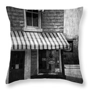 The Corner Deli Throw Pillow