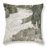 The Corner Of The Park Throw Pillow