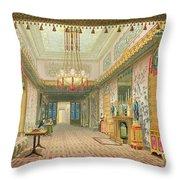 The Corridor Or Long Gallery Throw Pillow