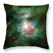 The Cosmic Hearth Throw Pillow
