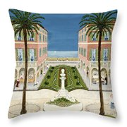 The Cote Dazur, 1981 Throw Pillow