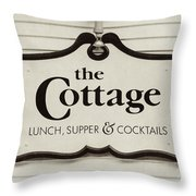 The Cottage In Lake Placid New York  Throw Pillow