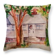 The Cottage In The Highlands Throw Pillow