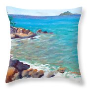 The Cottage View Throw Pillow