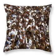 The Cotton Buzz In Alabama Throw Pillow