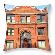 The Cotton Exchange Building Throw Pillow