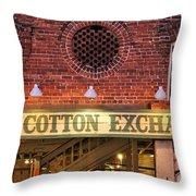 The Cotton Exchange Throw Pillow