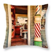 The Country Barber Throw Pillow