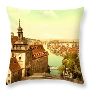 The Court House-bamberg-bavaria-germany - Between 1890 And 1900 Throw Pillow