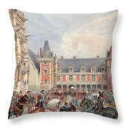 The Court In Chateaus Of The Loire Throw Pillow