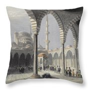 The Court Of The Mosque Of Sultan Throw Pillow