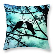 The Courtship Of Crows Throw Pillow