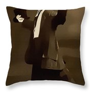 The Courtship Vintage Art Reproduction  Throw Pillow