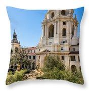 The Courtyard - Beautiful Pasadena City Hall. Throw Pillow