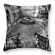 The Courtyard At The Old North Church Throw Pillow